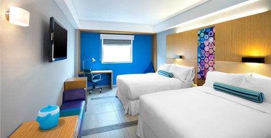Aloft Hotel Cancun - Partial Lake View Room